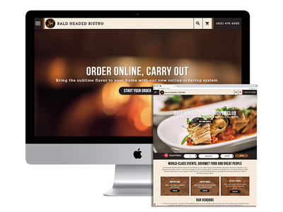 Bald Headed Bistro UX / UI Design
