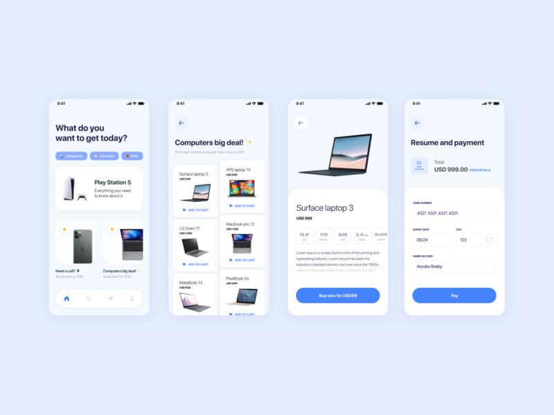 E-Commerce commerce interface tech ui design visual design uiux ui design ecommerce