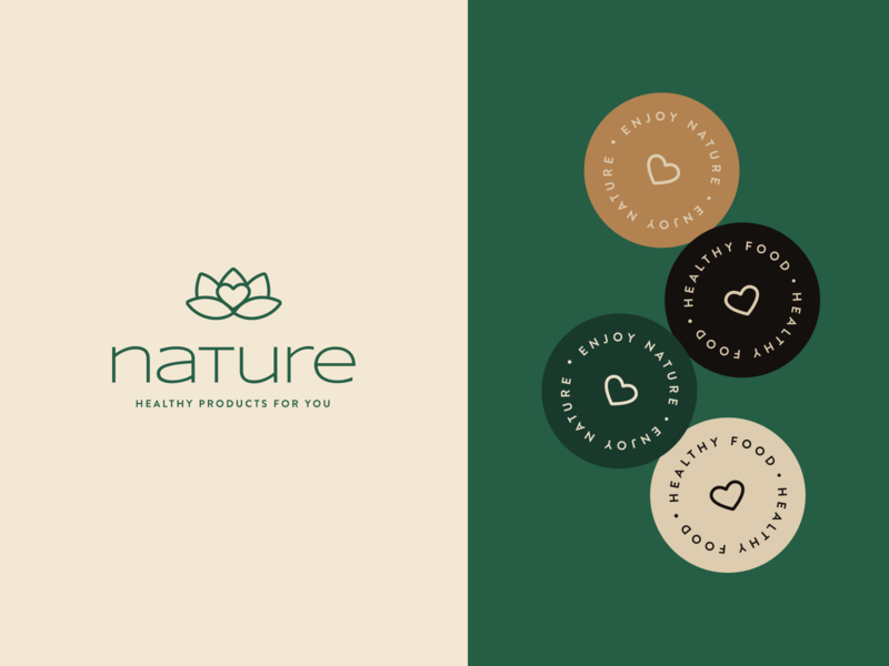 Nature - Branding Project typography nature logo identity healthy food elegant design colors colors palette branding brand