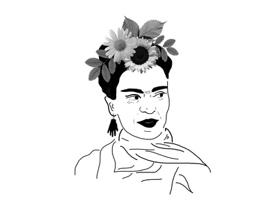 Frida illustration collage photoshop frida