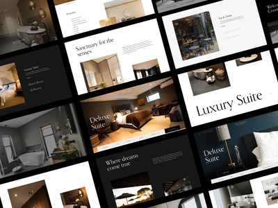 Luxury Retreats -  Work in Progress Screens interaction design clean design web design minimal ux ui