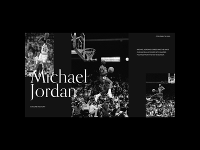 Tribute to The Last Dance and the legend Michael Jordan. agency dashdigital black and white interaction design design web design minimal clean ux ui