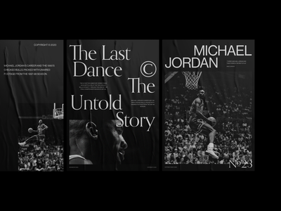 Tribute to The Last Dance and the legend Michael Jordan. black and white branding design graphic design poster minimal clean ux ui
