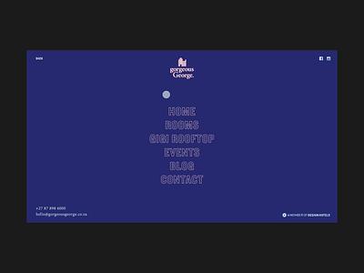 Gorgeous George Menu Animation modern clean motion ux ui web design menu design interaction