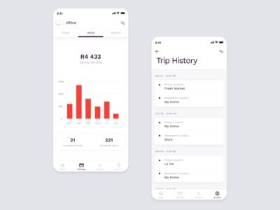 Ramzy Ride Driver App UI