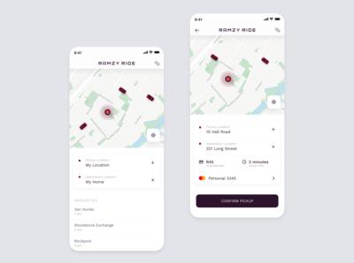 Ramzy Ride Passenger App UI