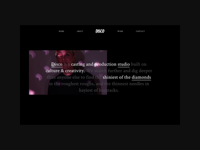 Disco About Page Concept