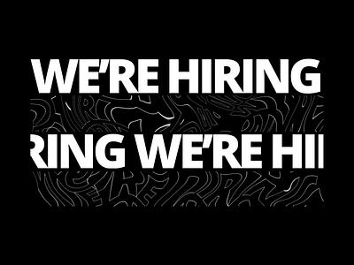 We're Hiring dashdigital team work interaction design after effects mobile ui design web design ux ui jobs hiring