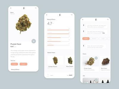Cannabis Marketplace (Concept) chatbot design marketplace cannabis cbd mobile ui minimal clean ux ui