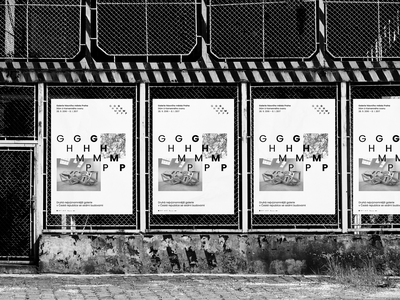 GHMP - Posters typography gallery ghmp design graphic design layout temporary black and white prague
