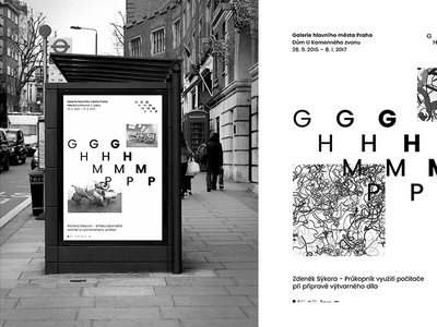 GHMP - Poster Mockup prague black and white temporary layout graphic design design ghmp gallery typography