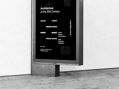 Czech Centres Posters prague black and white temporary layout graphic design design ghmp gallery typography