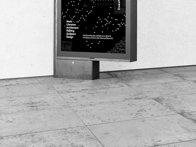 Art Poster Series typography gallery ghmp design graphic design layout temporary black and white prague