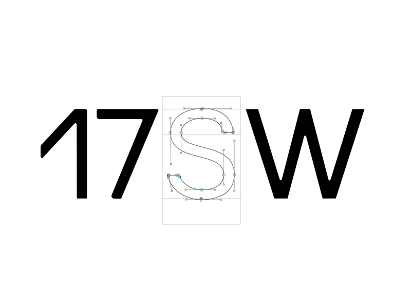 17SWTYPO construction draw illustrator numbers design glyphs typeface typography