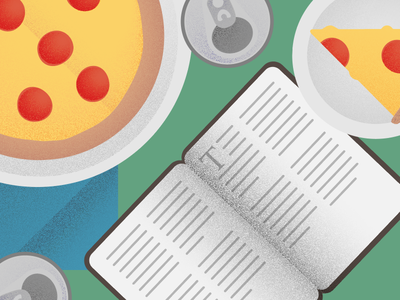 Small Group Illustration read hangout small group bible pizza illustration