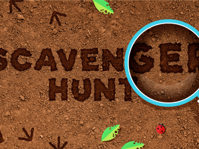 Scavenger Hunt illustration kid texture hunt scavenger