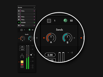 Audio Interface audio flat interface neon preview sneek