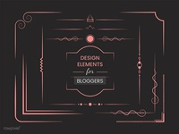 Design elements for Bloggers