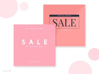 High Street Sale Templates Pink