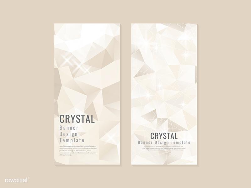 Beige crystal textured banner template vector banner glod template textured crystal beige crystal giveaway freebie free illustration vector