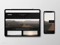 Blogger Design Template Vector Set