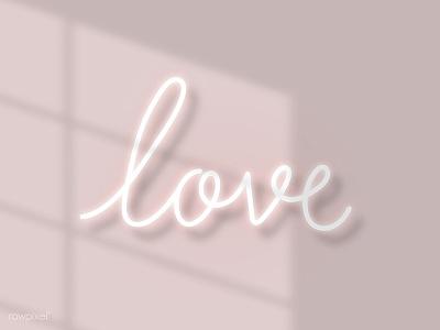 L O V E wallpaper love pink typo design doodle