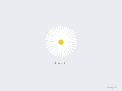 daisy wallpaper design illustration vector