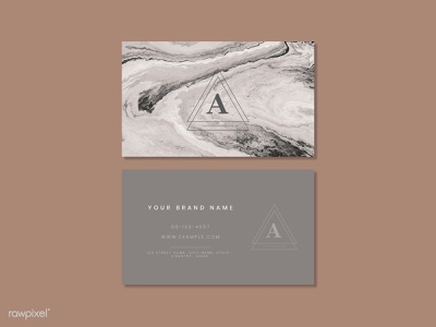 Pink marble business card marble template branding design
