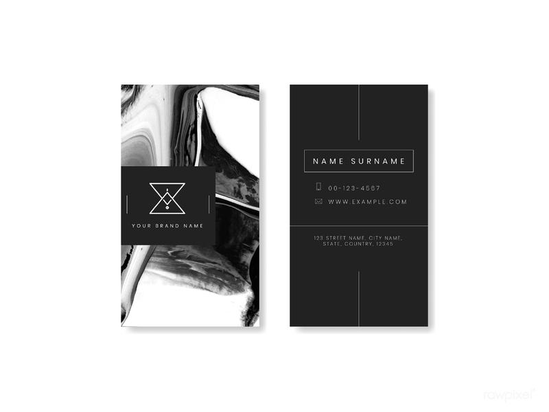 Black business card design your brans name blackandwhite businesscard namecard template mockup branding design vector
