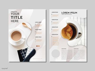 Coffee poster design vector giveaway freebie free branding design layout