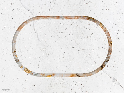 Oval frame on white marble background giveaway freebie free copy space design badge