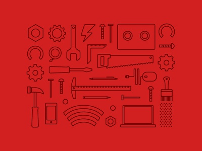 Build Something build thoughtbot software development illustration line art