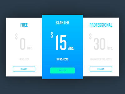 Pricing Table price pricing table knockout ui ux