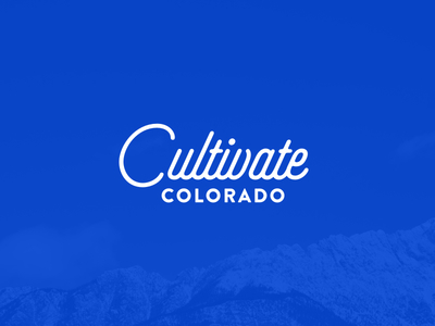 Cultivate Colorado cultivate colorado logo script branding identity