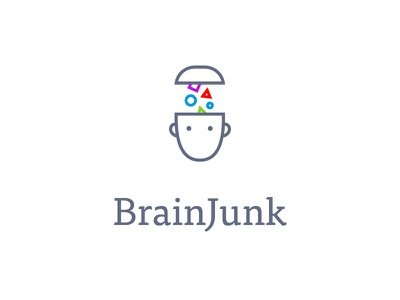 BrainJunk brain junk logo branding identity line