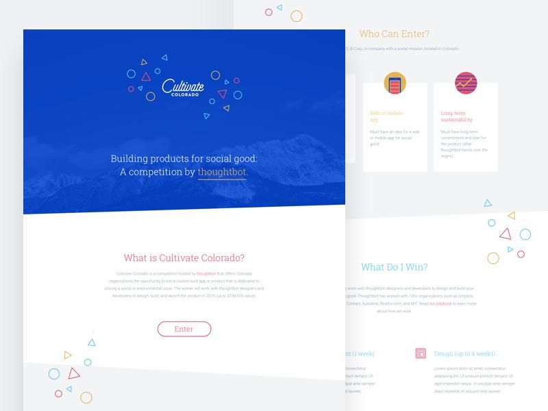 Cultivate Colorado Site design web competition colorado cultivate