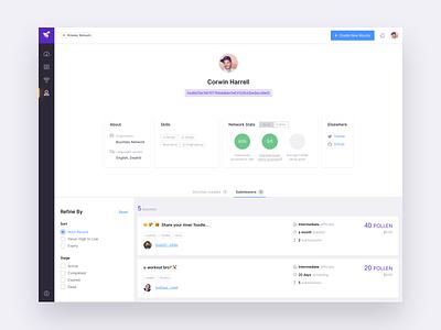 User Profile profile ethereum blockchain app design web ux ui