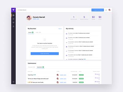 Dashboard bounties ethereum blockchain web dashboard ux app ui