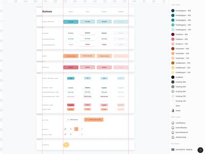 Button Component color palette figma component library design system button app web ui