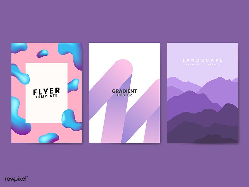 poster giveaway freebie free rawpixel poster design graphic set illustrations illustration vector