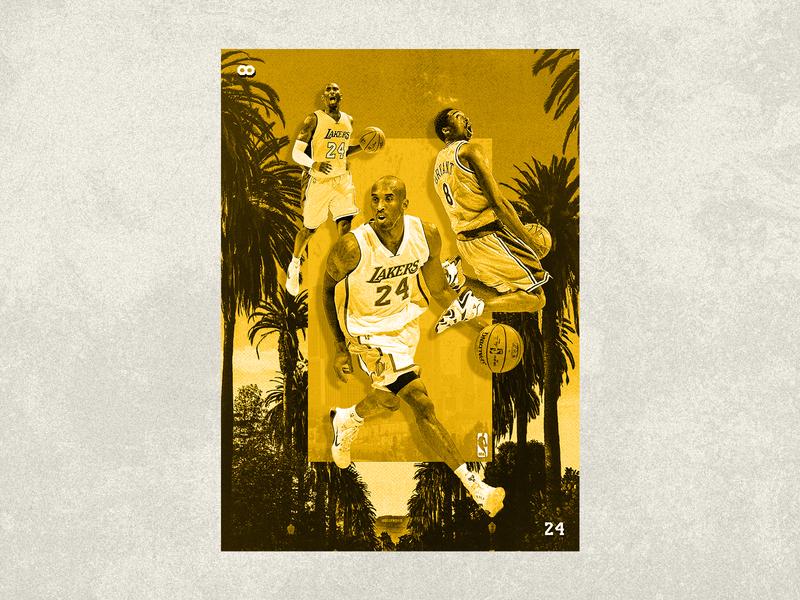 Kobe design branding basketball kobe lakers sports identity sports branding collage photoshop photoshop art sports design