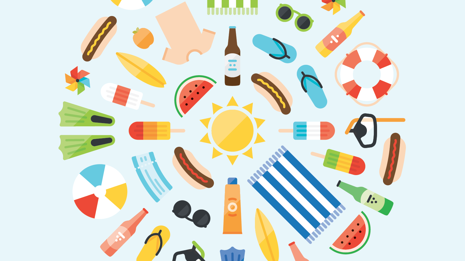 dribbble summer png by jez burrows