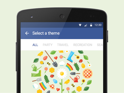Facebook Event Themes illustration seasonal events icons
