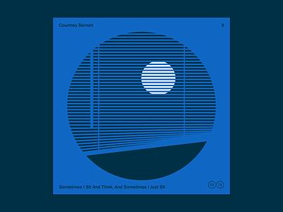 10x2015 / 9. Courtney Barnett vinyl illustration moon courtney barnett 10x2015