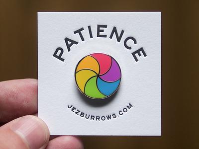 Patience pin enamel