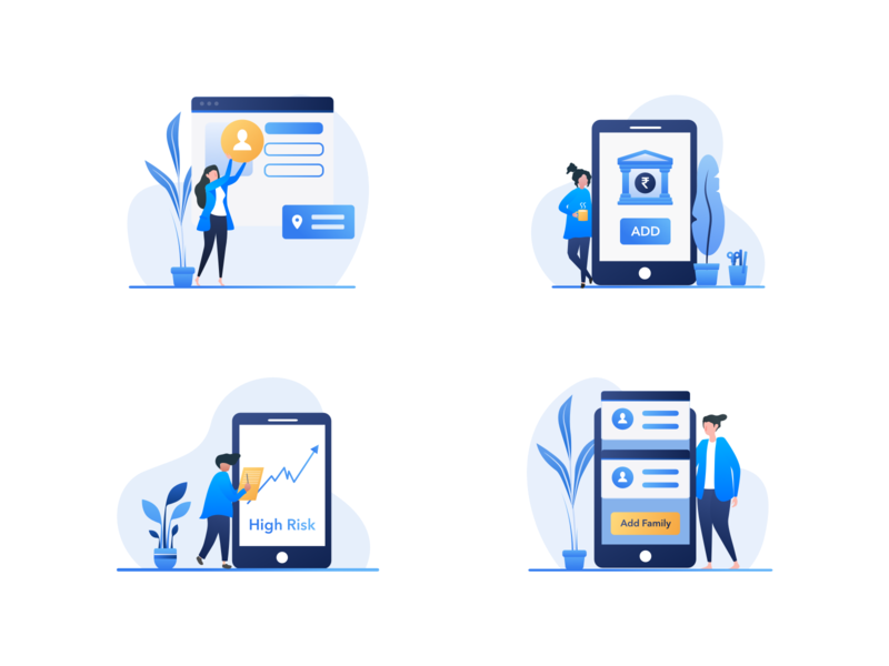 Illustrations wealth wealth management fintech finance art illustration finance app design iphone mobile app mobile android app ux application ui