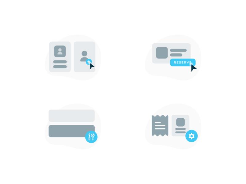 Illustrations application ui ux design illustration