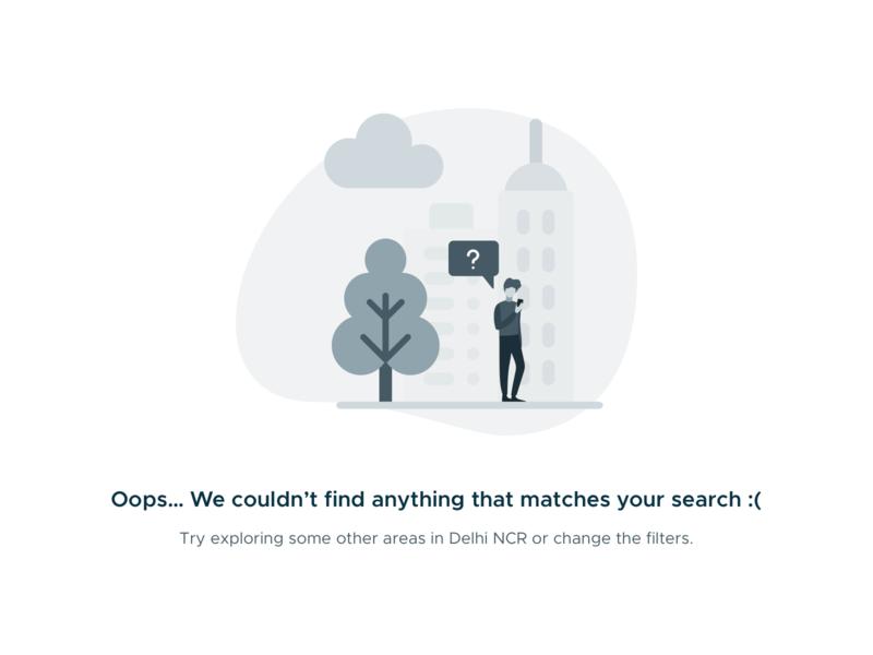 No Search Results web design website search results search no results illustration design app application ux ui