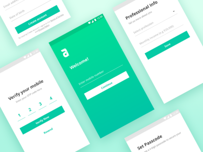 Sign-up Flow albert pinto sign up login ux ui mobile app android