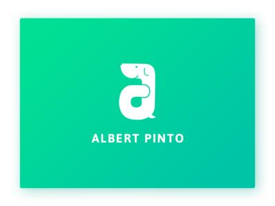 Logo Design for Albert Pinto alphabet dog design logo application albert pinto
